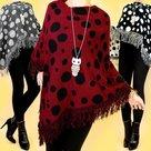 Poncho-Dames-Zwart-One-Size