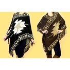 Poncho-Dames-Donkerbruin-One-Size