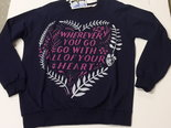 Sweater-Dames-Heart-Donkerblauw,-maat-XL