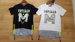 Squared-&-Cubed-T-Shirt-Jongens-Zwart