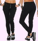 Dames-Stretch-Jogg-Jeans-Zwart