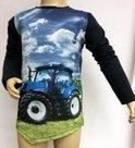 Shirt-Trekker-Jongens-Donkerblauw