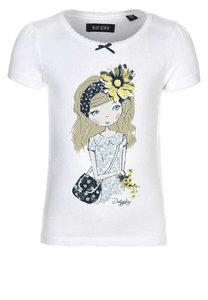 Blue Seven T-Shirt Meisjes Wit