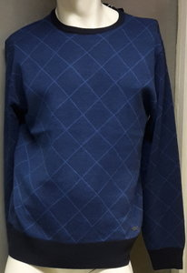 Blue Seven Pullover Heren Blauw